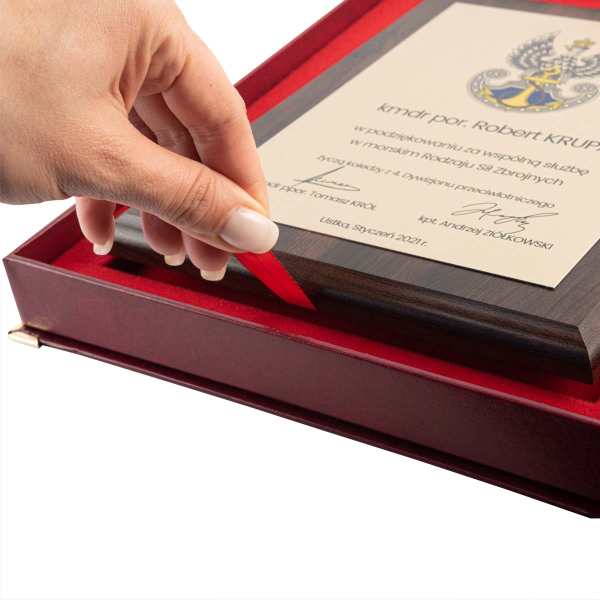 Dyplom z etui