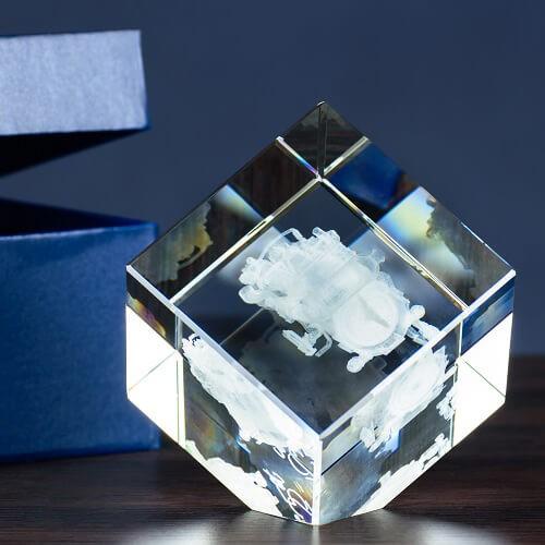 Kryształ szesciań ścięty - średni