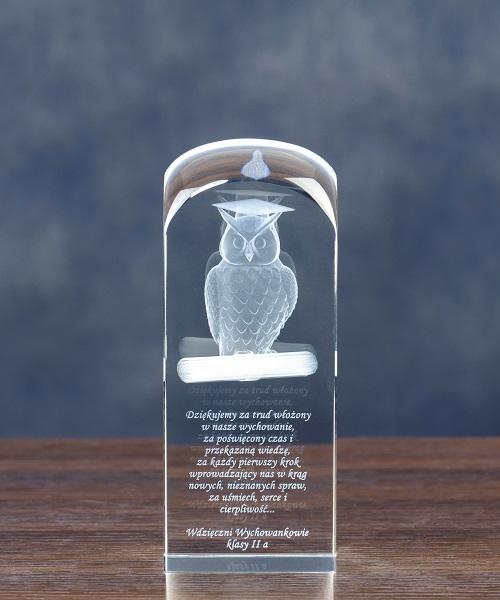 Sowa 3D Prezent dla nauczyciela