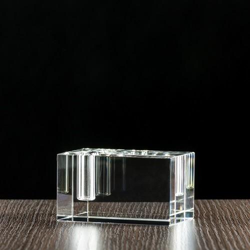 Kryształowy świecznik, poziomy